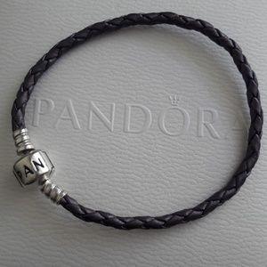 Pandora RETIRED leather bracelet